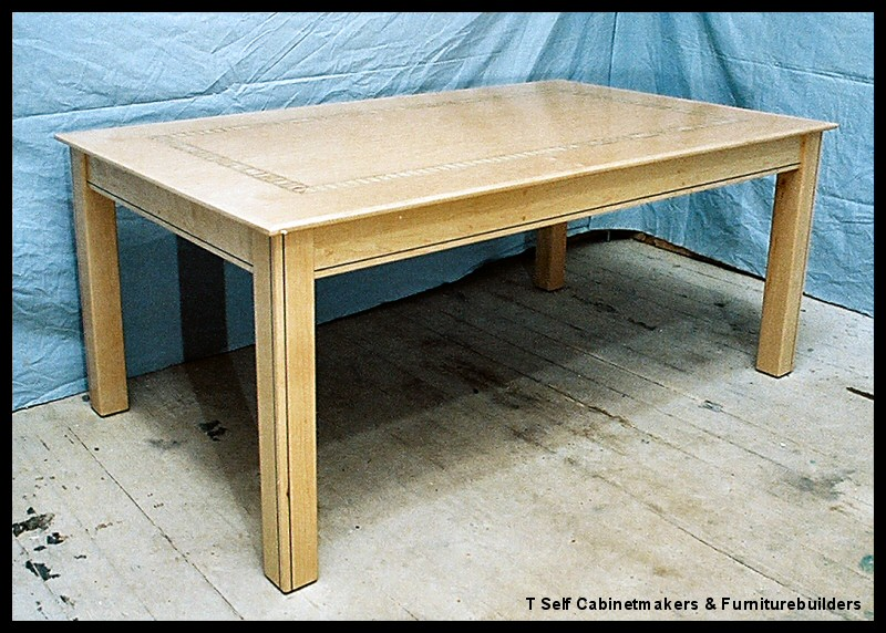Inlaid library dining table for 12x table