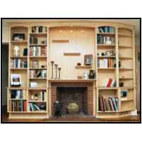 Maple bookcases and mantle