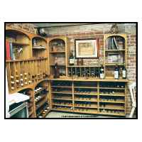 Wine Cellar fixtures constructed from furniture grade white pine